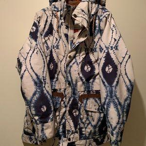 Burton Tie Dye Snowboard/Ski Jacket XL